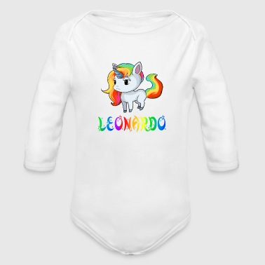 Leonardo Unicorn - Organic Long Sleeve Baby Bodysuit