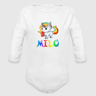 Milo Milo Unicorn - Organic Long Sleeve Baby Bodysuit