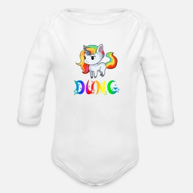 Dungarees Dung Unicorn - Organic Long-Sleeved Baby Bodysuit