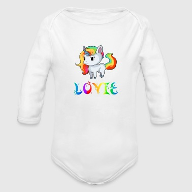 Lovie Unicorn - Organic Long Sleeve Baby Bodysuit