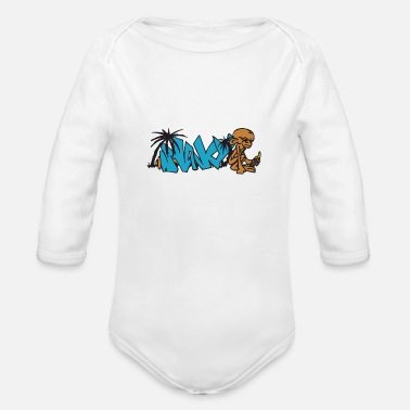 Graffiti graffiti - Organic Long Sleeve Baby Bodysuit