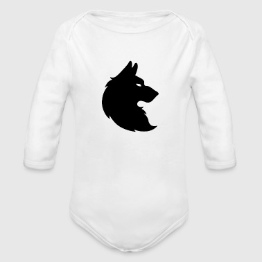 wolf trace - Organic Long Sleeve Baby Bodysuit
