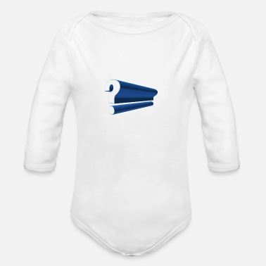 Mark Something question mark - Organic Long Sleeve Baby Bodysuit