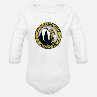 Lagos Nigeria Lagos West Mission - LDS Mission Classic - Organic Long Sleeve Baby Bodysuit