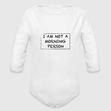 MORNING - Organic Long Sleeve Baby Bodysuit