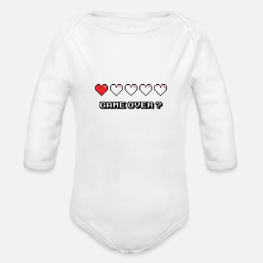 Game Over Game Over ? - Organic Long Sleeve Baby Bodysuit