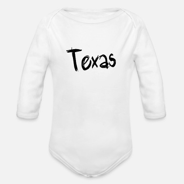 Texas Texas - Organic Long Sleeve Baby Bodysuit