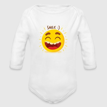 Laugh Laugh Happy - Organic Long Sleeve Baby Bodysuit