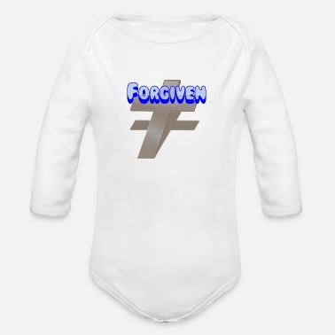 Christian Forgiven. Cool Christian. - Organic Long Sleeve Baby Bodysuit
