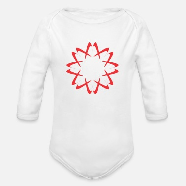 Circular Circular Red - Organic Long Sleeve Baby Bodysuit