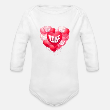Baloon LOVE BALOONS - Organic Long-Sleeved Baby Bodysuit