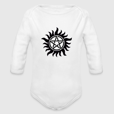 Supernatural Anti-Possession Symbol - Organic Long Sleeve Baby Bodysuit