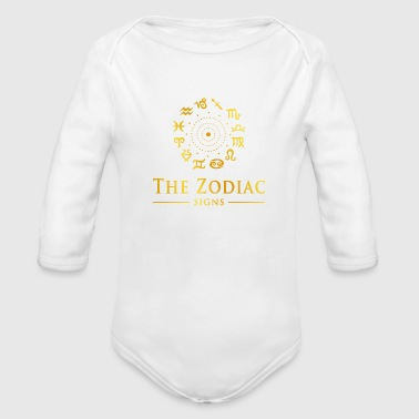 THE ZODIAC SIGNS - Organic Long Sleeve Baby Bodysuit