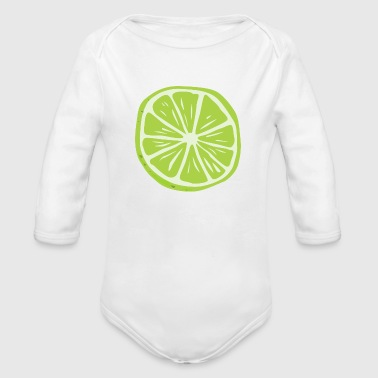 lemon - Organic Long Sleeve Baby Bodysuit
