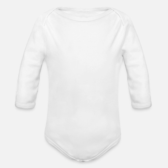 Memorial Day Baby Clothing - HAPPY MEMORIAL - Organic Long-Sleeved Baby Bodysuit white