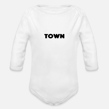 Town Hall town - Organic Long-Sleeved Baby Bodysuit