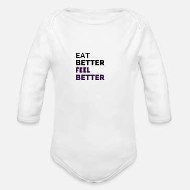 Nutrition Nutrition is key - Organic Long Sleeve Baby Bodysuit