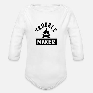 Troublemaker Troublemaker - Organic Long Sleeve Baby Bodysuit
