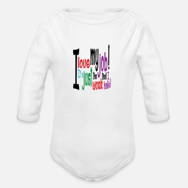 Job job - Organic Long Sleeve Baby Bodysuit