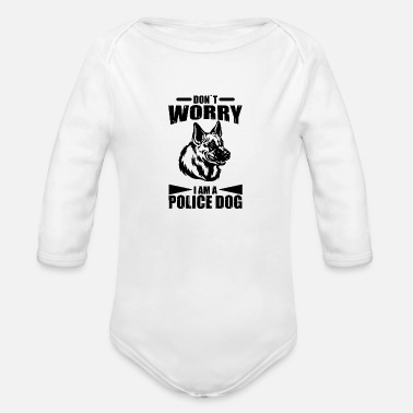 Police Dog police dog - Organic Long-Sleeved Baby Bodysuit
