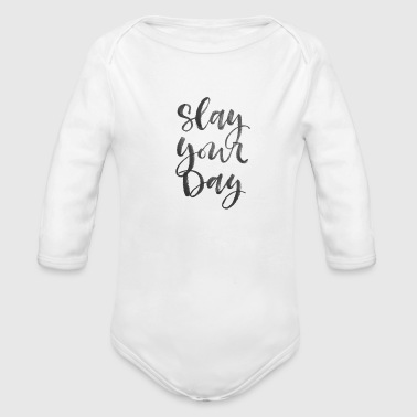Slay SLAYED - Organic Long Sleeve Baby Bodysuit