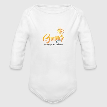 summer - Organic Long Sleeve Baby Bodysuit
