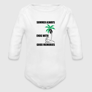 Summer summer - Organic Long Sleeve Baby Bodysuit