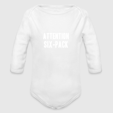 attention - Organic Long Sleeve Baby Bodysuit