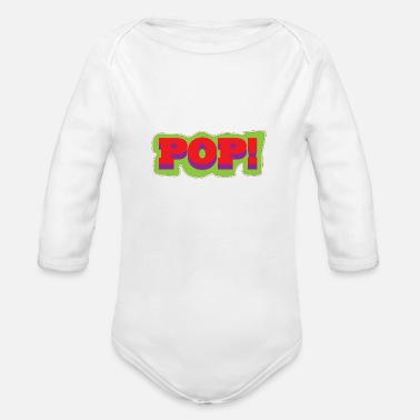 Pop Art Pop Art Popart Pop Art Pop Color POP - Organic Long-Sleeved Baby Bodysuit
