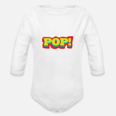 Pop Art Pop Art Popart Pop Art Pop - Organic Long-Sleeved Baby Bodysuit