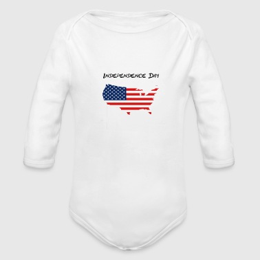 Independence Day - Organic Long Sleeve Baby Bodysuit