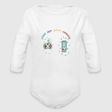 Stone age game console - Organic Long Sleeve Baby Bodysuit