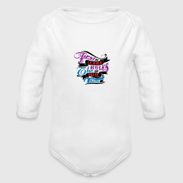 Provocation provocative awesome horny naughty alcohol birthday - Organic Long Sleeve Baby Bodysuit