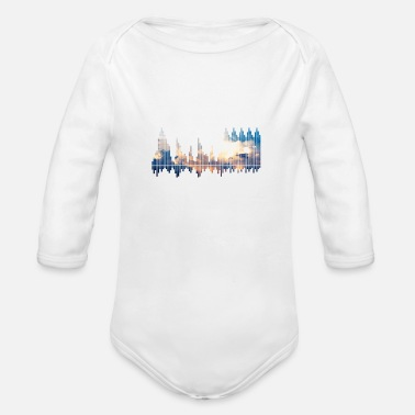 soundwaves - Organic Long-Sleeved Baby Bodysuit
