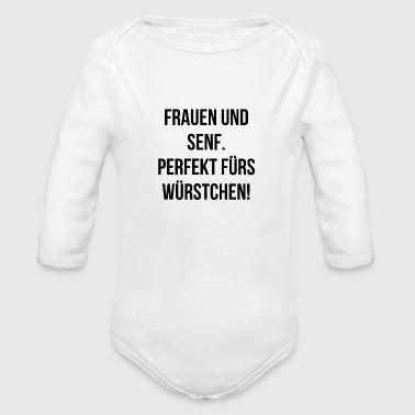 Provocation saying woman funny funny gift provocative - Organic Long Sleeve Baby Bodysuit