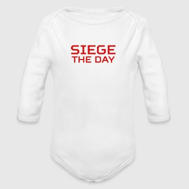 SIEGE THE DAY - Organic Long Sleeve Baby Bodysuit