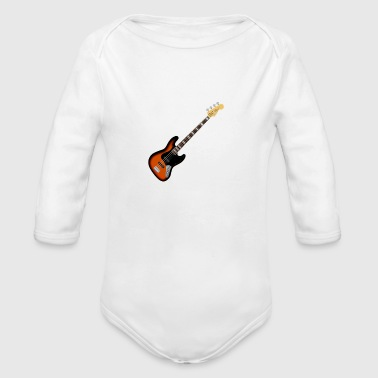 bass guitar music player - Organic Long Sleeve Baby Bodysuit