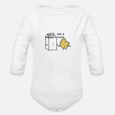 Milk Milk Cookie - Organic Long-Sleeved Baby Bodysuit