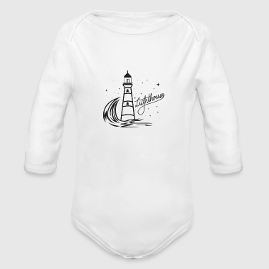 Lighthouse Coast North Sea Holiday Gift - Organic Long Sleeve Baby Bodysuit