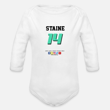 Jersey Number Jersey Number - Organic Long-Sleeved Baby Bodysuit