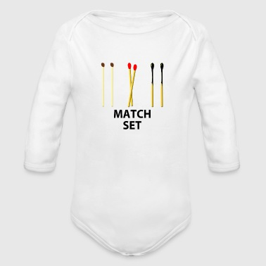 MATCH SET - Organic Long Sleeve Baby Bodysuit