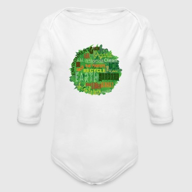 SAVE THE PLANET - Organic Long Sleeve Baby Bodysuit
