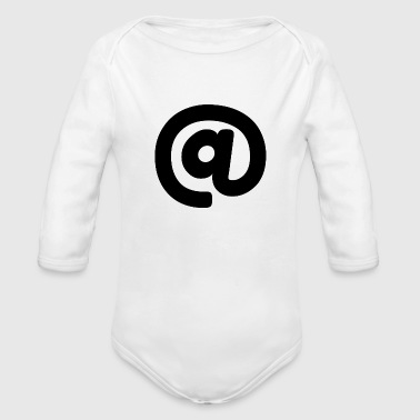 At symbol/@ - Organic Long Sleeve Baby Bodysuit