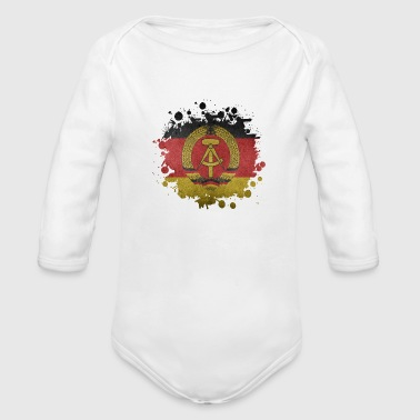 Stains GDR stain - Organic Long Sleeve Baby Bodysuit