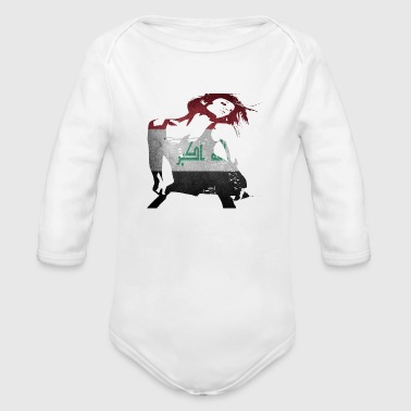 Iraq Iraq - Organic Long Sleeve Baby Bodysuit