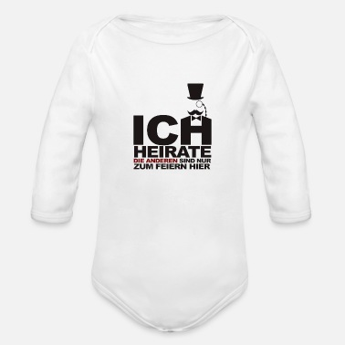 Marriage marriage - Organic Long-Sleeved Baby Bodysuit