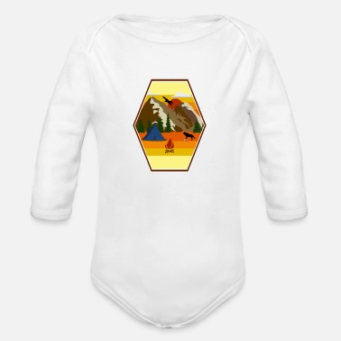 Wilderness Camping tent scouts wilderness - Organic Long-Sleeved Baby Bodysuit