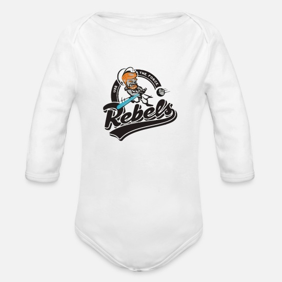 Game Baby Clothing - Rebels - Organic Long-Sleeved Baby Bodysuit white