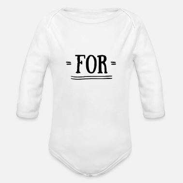 Together For together with - Organic Long-Sleeved Baby Bodysuit