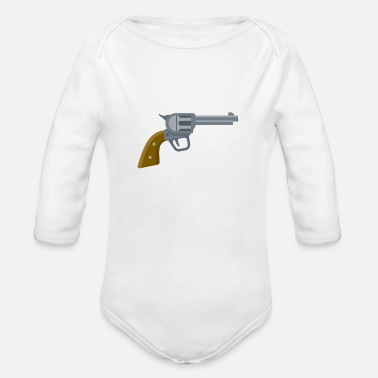 Revolver Antique Revolver - Organic Long-Sleeved Baby Bodysuit